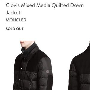 dd99f3cc7 Moncler Clovis mixed media quilted down jacket 🖤✨